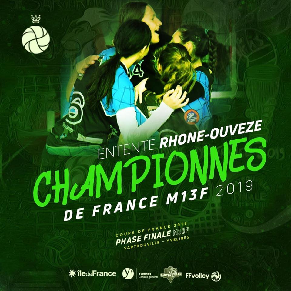 Rhône-Ouvèze championnes de France 2019 !